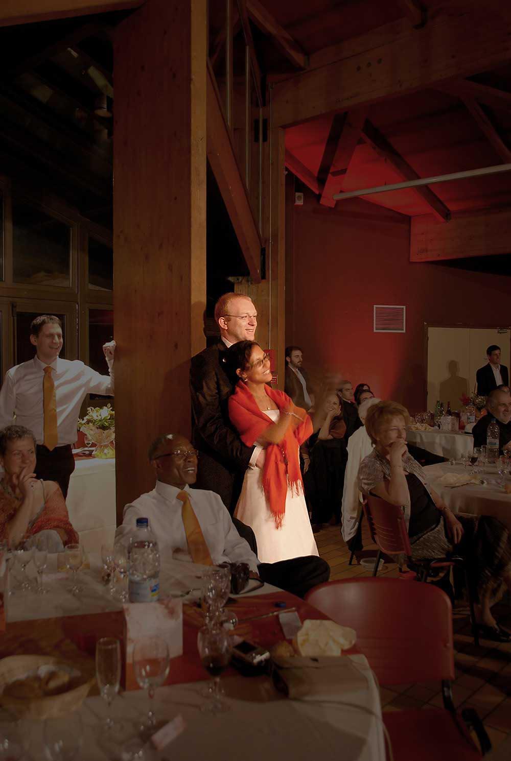 Couple de maries lors de la reception de mariage