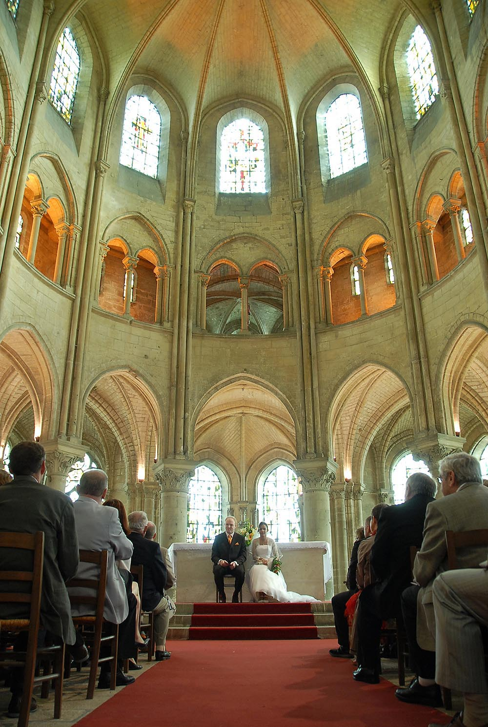 Wedding ceremony at Abbatiale de Saint Leu d'Esserent, France