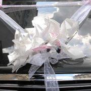 Testimonials Illustration of wedding bouquet on car Natasha and Sarkis
