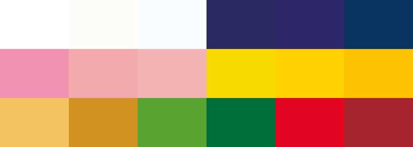 Palette de couleurs de mariage